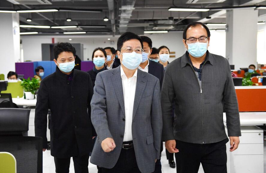 湖南省委常委、长沙市委书记胡衡华到大唐先一科技公司调研