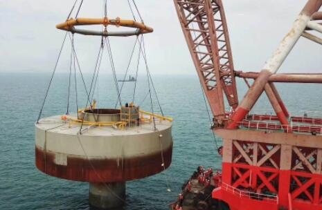 全球首台海上风电大直径单桩-桶复合基础成功实施