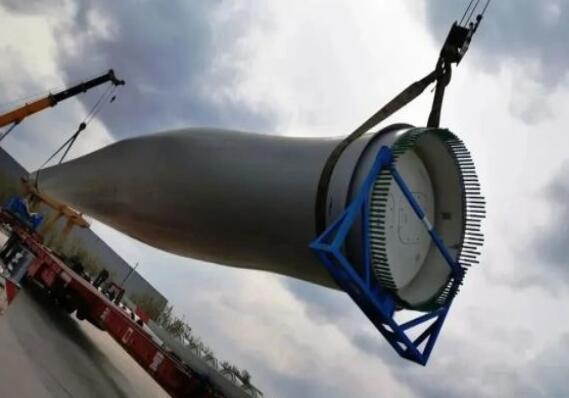 中国2套风电叶片出口国外