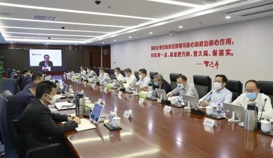 钱智民会见远景能源首席执行官张雷