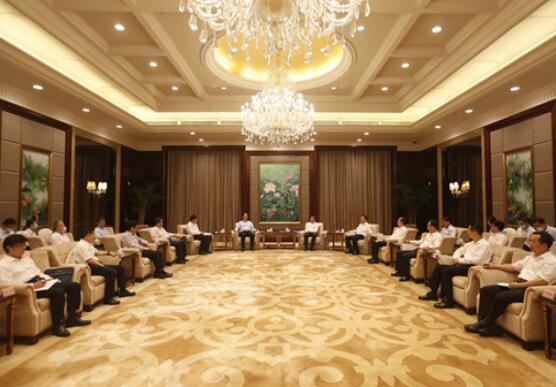 国家电网董事长毛伟明与福建省委书记于伟国、省长唐登杰会谈