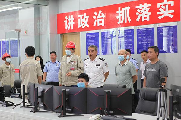 内蒙古自治区反恐检查组到大唐海勃湾水利枢纽公司指导工作