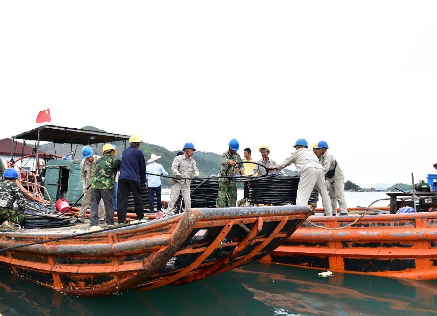 国网霞浦供电公司:铺设海底电缆