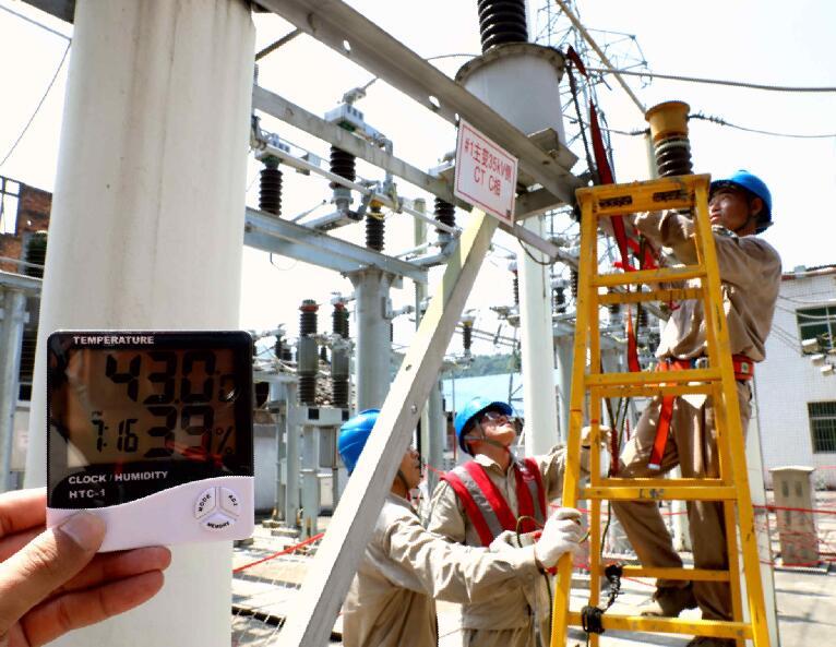国网福安市供电公司42℃超高温下
