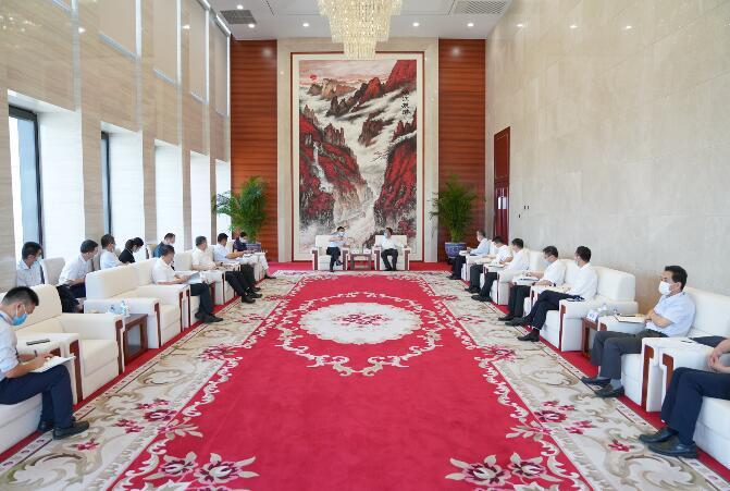 中国能建党委书记、董事长汪建平会见陕西省副省长赵刚一行