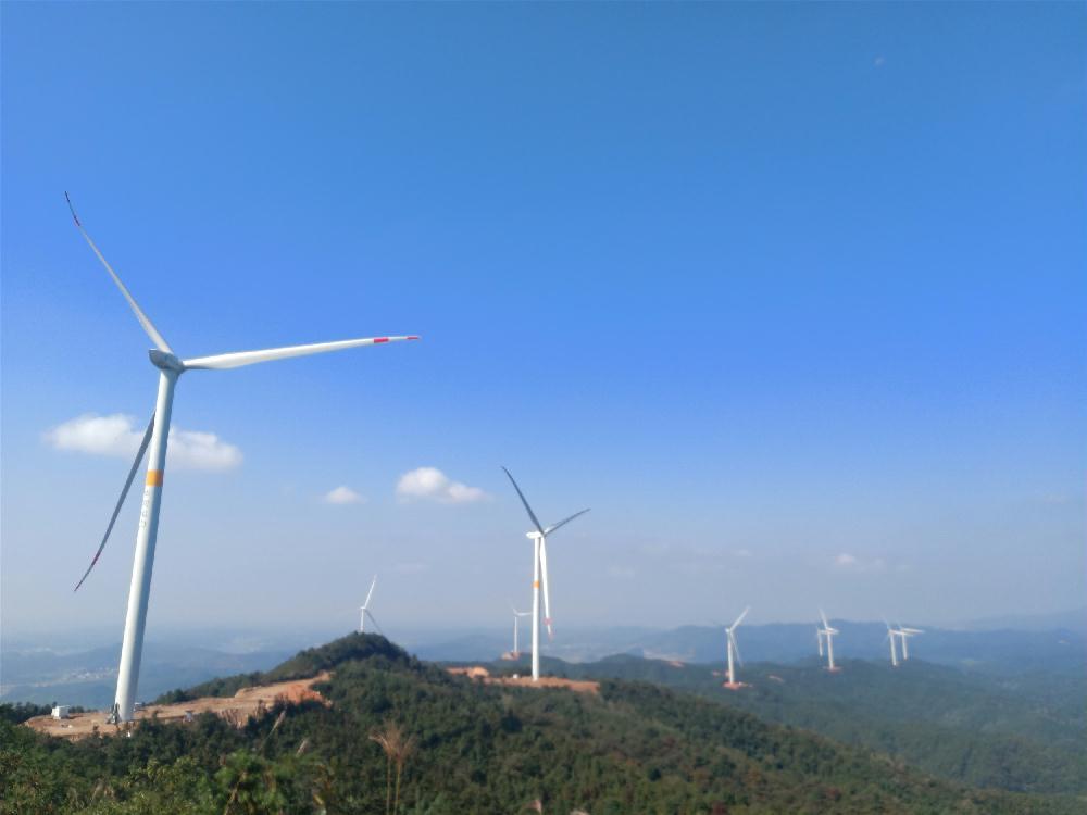 华润峡江玉峡风电场全容量并网发电