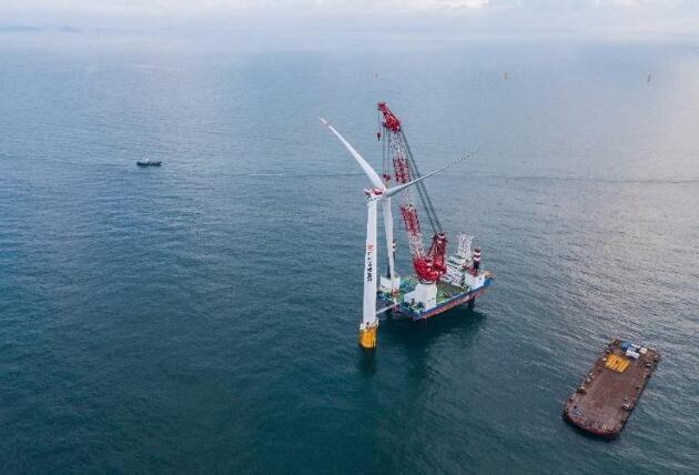 珠海金湾海上风电场首批风机成功并网