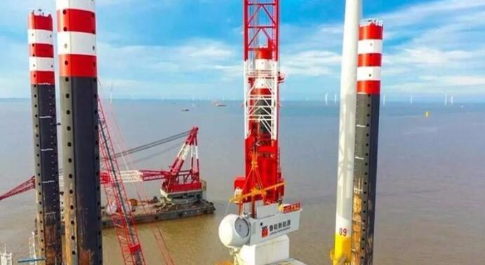 江苏如东H14#海上风电场主体工程全面完工
