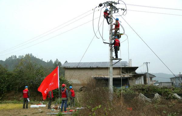 国网乐安县供电公司自主实施综合整治迎冬峰