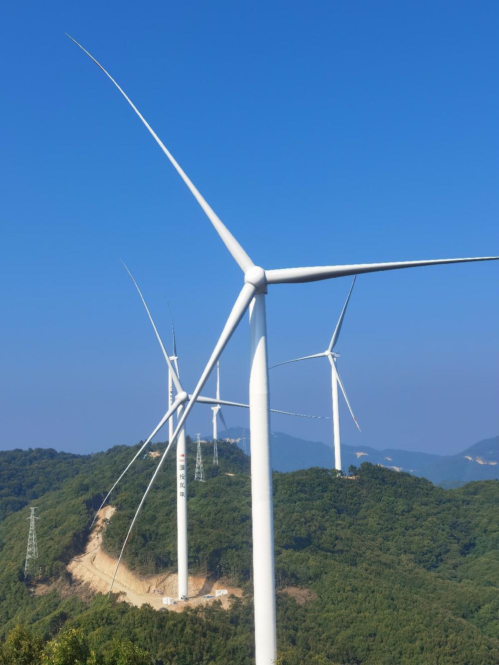 国投浦北龙门风电场二期工程投产