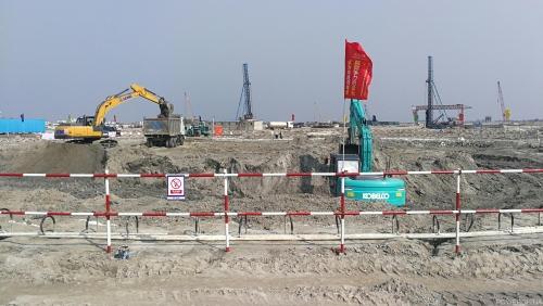 孟加拉巴瑞萨燃煤电站项目烟囱基础开挖