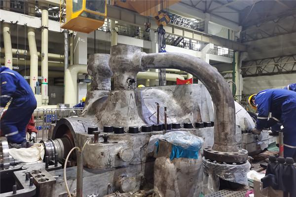 华润南京化工园热电216A修#2汽轮机扣缸顺利完成
