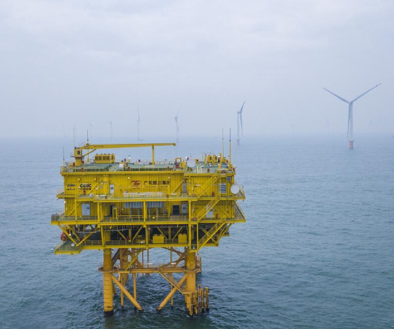粤港澳大湾区建设规模最大的海上风电场全容量并网投产