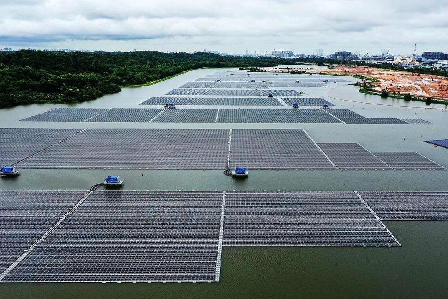 新加坡最大光伏电站并网发电 中国能建总承包