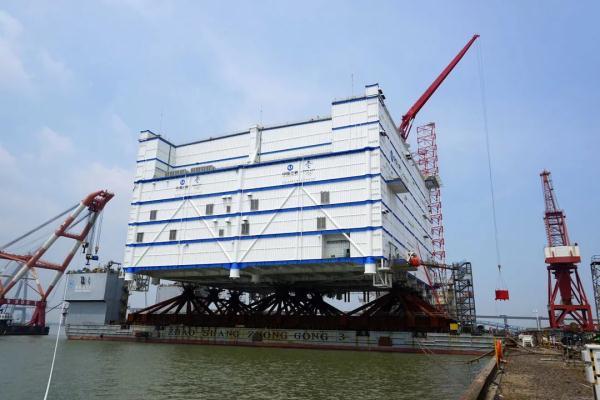 亚洲首座、世界最大海上换流站装船即将发运