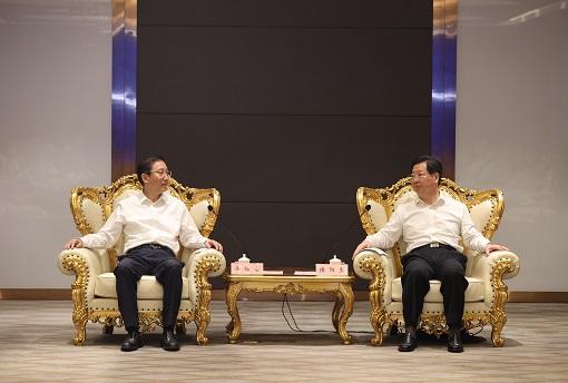 国家电网董事长、党组书记辛保安拜会河南省委书记楼阳生、省长王凯