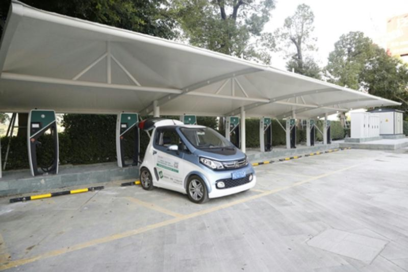 泉州地区首座电动汽车城市快速充电站启用