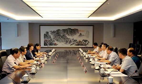 华电集团杨清廷会见岳阳市委副书记、市长李爱武