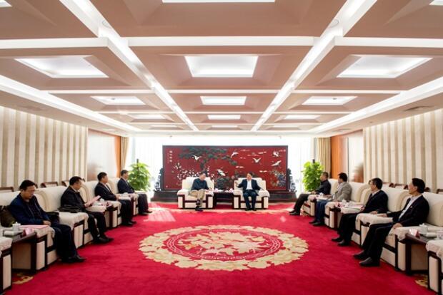 温枢刚会见宁夏自治区党委副书记、银川市委书记姜志刚
