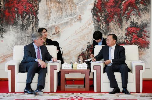 中国能建集团汪建平会见GE公司董事长Larry Culp