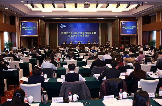 中电联召开第六届理事会第五次常务理事会议